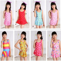 Wholesale Children Swimsuits Cheap - Kids girls swimwear hot selling lovely printing one-pieces bathing clothing children swimsuits high quality cheap price factory outlet