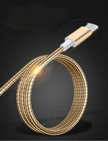 câbles usb livraison gratuite chine achat en gros de-Chine Câble télescopique en alliage d'aluminium 100cm en alliage d'aluminium printemps 2A pour câble USB pas cher en gros avec livraison gratuite