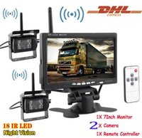 """Wholesale truck rear view camera wireless - Bus RV Truck 7"""" car Rear view Monitor+Wireless Night Vision Reverse Back up Camera"""