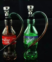 Wholesale Wholesale Colorful Hood - Coke Sprite Water Hood Glass Bongs Accessories  , Glass Smoking Pipes colorful mini multi-colors Hand Pipes Best Spoon glas