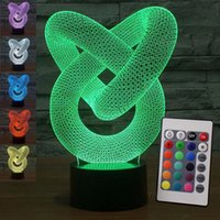 Nuovo aggiornamento Remote Creative 3D Illusion Lampada LED Night Light 3D Abstract Graphics Acrilico Lamparas Atmosfera Lampada novità Decorare