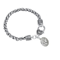 Wholesale Macrame Style Bracelets - Egyptian Style Silver Plated With Round Macrame Bracelets For Women Bangles Fashion Jewelry Gifts