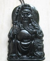 Wholesale Good Black Jade - 2017 NEW xinjiang black jade hand-carved GUAN YU bring blessing and good luck fashion Jewelry black jade Pendant wholesale and retail
