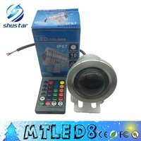 Wholesale Pool Color Led Light - 2015 Best Waterproof 10w Led Underwater Light 16 Color Changing RGB LED Pool Pond Fountain Lamp 12V RGB Floodlight With 24Key IR Remote