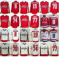 a9a3c17f191 Ice Hockey Washington Capitals 8 Alexander Alex Ovechkin Jersey 77 TJ Oshie  74 John Carlson 70 Braden Holtby 19 Nicklas Backstrom Red White ...