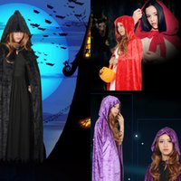 Wholesale Long Hair Images - Halloween Real Image Cheap In Stock Cloaks With Vampire Cosplay Shawls Perfect Cony Hair For Winter Christmas Long Wraps