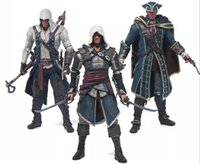 Wholesale Assassins Creed Action Figure - Assassins Creed 4 Black Flag Connor Haytham Kenway Edward Kenway PVC Action Figure Toys hidden blade
