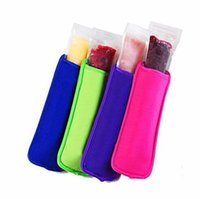 Wholesale ice cream drinks - 18x6cm Ice Sleeves Freezer Popsicle Sleeves Pop Stick Holders Ice Cream Tubs Party Drink Holders Free Shipping