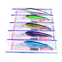 Wholesale Deep Minnow - 2017 Bionic Big Minnow Saltwater Fishing Lure ABS Plastic Crank baits 10colors 20cm 41g Deep Diving fly fishing bait With Plastic box