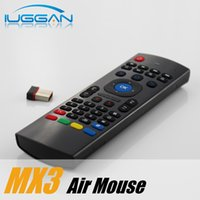 Wholesale Tv Box X6 - MX3 X8 Air Mouse Remote Mini Wireless Keyboard IR Learning 6 Axis For MXQ Pro M8S Plus T95 X6 Pro TV BOX