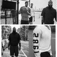 Wholesale Men Jacket Sweater Zipper - James Harden Training Suit Kyrie Irving Men's Slim Oblique Zipper Sweater Coat Jacket Anthony Davis Hoodie Jacket Free Shipping