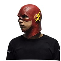 Le Flash Latex Masque DC Film Cosplay Costume Prop Halloween Tête Totale Latex Masques Nouveau
