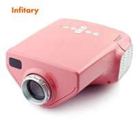Wholesale projector pink - Wholesale- E03 early childhood led portable projector home HD 1080P Mini Projector Micro Back White blue pink yellow green free shipping