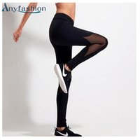Großhandel- Anyfashion Womens Running Pants Kompressionsstrumpfhose Sport Legging Fitness Frau Hose Yoga Leggings Weibliche Sport Gym Pants