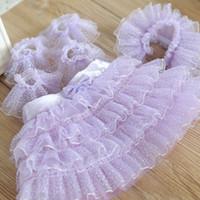Wholesale Dog Veil Dress - New Elegant Dog Cat Bridal Veil Decor Lace Collar Small Medium Dog Tulle Skirt Supplies Pets Wedding Christmas Gift 6pcs set