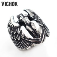 Wholesale Tops Steel Eagle - 316 L Stainless Steel ring Eagle Enchantress Ring for Men 2017 New Fashion Top Quality Free Shipping Fast Delivery VICHOK