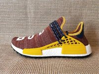 2018 NMD Race Humaine Pharrell Williams Hu NMD_TR Chaussures Sport Chaussures de Course discount Athletic mens Outdoor Boost Formation Sneaker Taille 36-47