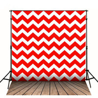 Red Chevron Wall Photography Backdrop Vintage Wood Planks Floor Kids Photo Backdrops Fond d'écran pour studio Shooting Props