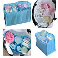 Wholesale Baby Diaper Bottle Organizer - Wholesale- HOT Baby Diaper Nappy Water Bottle Changing Divider Storage Organizer Bag Liner