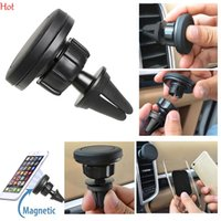 Wholesale sticky mount - Universal Car Holder Magnetic Air Vent Mount Mobile Phone Holder For PC GPS Phone Paste Car Magnetic Sticky Phone Holder Stand SVD030810