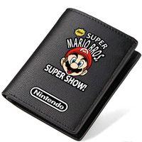 Wholesale Super Mario Game Card - Mario bros wallet Super worker purse Game short long cash note case Money notecase Leather burse bag Card holders