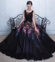 Wholesale Real Saab Dress - Elegant African Lace Long Formal Evening Dress Flower Print Patterns Fashion Scoop Appliqued A Line Elie Saab Evening Dresses ADE018