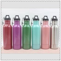 Wholesale 6 Colors oz Beer Bottle Armour Koozie Keeper Stainless Steel Vacuum Flask With Bottle Opener CCA6682