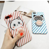 Wholesale 3d Silicone Love - Cute Cat 3D Stress Relievers Silicone TPU Soft Cover Case for IPhone 6 6Plus 6s 7 8Plus Phone Shell Loves Squishy Phone Case