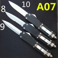 Wholesale Blade Survival - Troodon A07 white blade 10 models double action optional Hunting Pocket Knife Survival Knife Xmas gift for men 1pcs