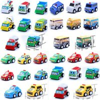 Wholesale Diecast Model Aircraft - 2017 New Cartoon Diecast Model Cars Pullback Racers Toy Hot Mini Back To Truck Children Aircraft Police Car Buses Engineering Vehicles Model