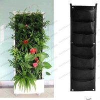 Wholesale 2017 New Indoor Outdoor Wall Hanging Planter Vertical Felt Garden Plant Pots Grow Container Bags Pockets Optional For Decor MYY