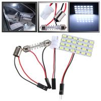 mejores luces de panel led al por mayor-Mejor Precio T10 24 LED Bombilla 5730 SMD placa del panel de luz blanca pura del coche de lectura Auto Interior Mapa BA9S de la bóveda de la lámpara 12V CC
