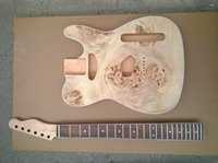Wholesale Guitar Top Wood - Wholesale- Alder wood burl veneer top Tl custom guitar kit