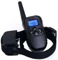 Wholesale Display Vibration - Rechargeable and Waterproof 300meters Remote Electric Shock Anti barking Pet Dog Training Collar with LCD display