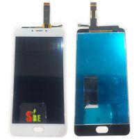 envio meizu al por mayor-Para Meizu U20 Pantalla Táctil Digitalizador + Pantalla LCD Para Meizu U20 5.5 pulgadas Celular Negro / Color Blanco Envío Gratis