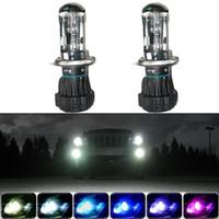 faróis lâmpadas h4 35w venda por atacado-LEEWA 2x 35 W Xenon Farol Do Carro H4 9003 Hi / Lo Bi-Xenon HID Repalcement Lâmpadas Harness SKU: # 2225