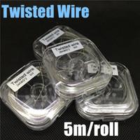 витая проволочная катушка оптовых-Катушка испарителя Twisted E Cig Kan-thal Twist Wire 24AWG 26AWG 28AWG 30AWG 32awg Датчик 5 м на катушку для RDA DIY мод