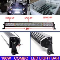 Wholesale Truck Roof Driving Work Lights - 180W Car Led Light Bar 32Inch Dual Row for 4WD Truck UTV Jeep Tractor Offroad Driving Roof Fog Lamp Work Light Combo Spot Flood Beam 12V 24V