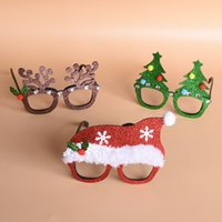 Wholesale Baby Shower Ornaments Favors - Funny christmas rabbit Ornaments Costume Glasses Novelty Birthday Favors baby shower Festive Party Supplies Decoration Accessories