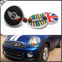 Wholesale Mini Vinyl - Wholesale- Freeshipping MINI COOPER Emblem Badge Logo Decal Sticker Front grill Metal No.H Metal