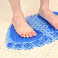 estera de ducha de masaje al por mayor-Estera de baño de Big Foot Shape PVC Rubber Mats Baño de succión ducha antideslizante a prueba de agua Masaje Pad 5 25ld J R