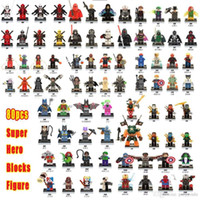 Wholesale Marvel Super Heroes Action Figures Building Block Compatible With Legoes Civil War X Men Hulk Deadpool Iron Man Batman Spiderman
