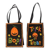 Wholesale shop product resale online - Hot Halloween decoration products creative Halloween pumpkin gift bag shopping mall Halloween gift bag