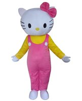 Wholesale Cat Head Costume Adult - love hello kitty cat kt Cartoon Mascot Costume Adult Size Fancy Dress EPE head carnival costume party free shipping