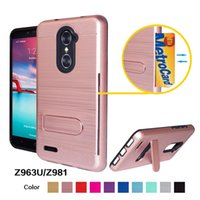Ständer Rüstung Draht Telefon Fällen für LG K10 2017 / Stylo 3 / Stift 2 / X Power 2 TPU + PC 2 in 1 Shock-Proof Defender Shell