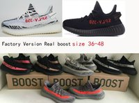 Wholesale White Lace Low Heels - DHL free Top Factory 350 V2 Sply Bred cp9652 cp9654 zebra white Limited Real Boost 350 Heel tab version With Receipt Box
