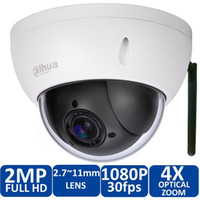 Wholesale Dome Camera Indoor Outdoor - Original Dahua DH-SD22204T-GN-W Onvif 2.0 Megapixel IR Pan Tilt Dome Outdoor IP Wireless WIFI IP Camera SD22204T-GN-W free power