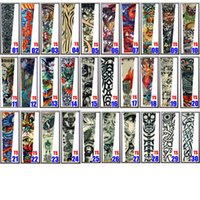 Wholesale Stockings Tattoo Design - 2017 new fashion tattoo sleeves wicked cool breathable long arm warmers cycling UV protective wears 200 designs in stock