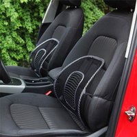 Wholesale Office Chair Neck Pillow - Black Mesh Lumbar Back Brace Support Office Home Car Seat Chair Cushion