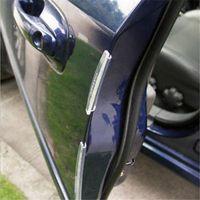 Wholesale black body molding - Door Edge Guards Trim Molding Protection Strip Scratch Protector Car Crash Barriers Door Guard Collision Transparent Car Sticker